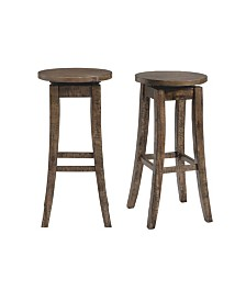 "Picket House Furnishings Flynn 30"" Swivel Backless Bar Stool Set"