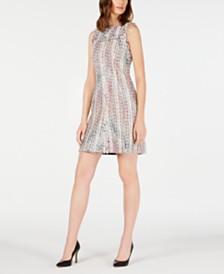 Elie Tahari Dean Sleeveless Tweed Sheath Dress
