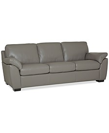 "Lothan 87"" Leather Sofa with 3 Cushions, Created for Macy's"