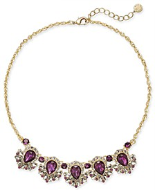 "Crystal & Stone Statement Necklace, 17"" + 2"" extender, Created for Macy's"