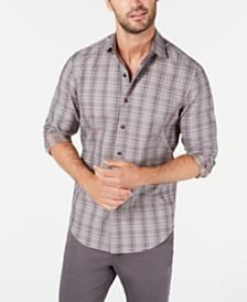 Tasso Elba Men's Plaid Dobby Shirt, Created for Macy's
