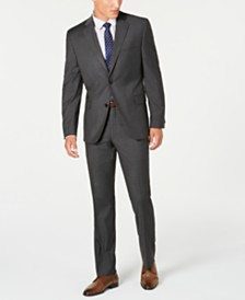 Alfani Red Men's Slim-Fit Performance Stretch Gray Mini Check Suit Separates, Created for Macy's