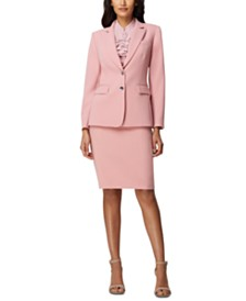 Tahari ASL One-Button Blazer & Pencil Skirt