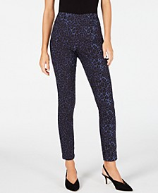 INC Blue Leopard Skinny Pants, Created for Macy's
