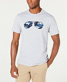 Men's Camo Aviator T-Shirt, Created For Macy's