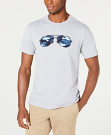 Michael Kors Men's Camo Aviator T-Shirt, Created For Macy's