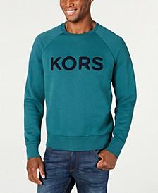 Men's Logo Fleece Crew Neck Sweatshirt, Created For Macys
