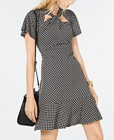 Circle Logo Twist-Neck Dress, Regular & Petite Sizes