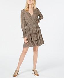 Leopard Print Tiered Dress, Regular & Petite Sizes