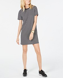 Circle Logo Cotton T-Shirt Dress