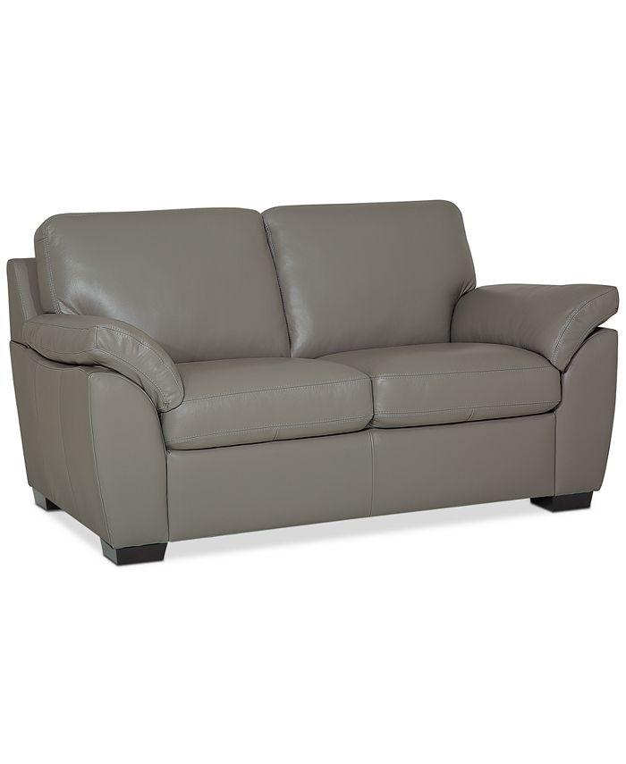 "Furniture - Lothan 64"" Leather Loveseat"