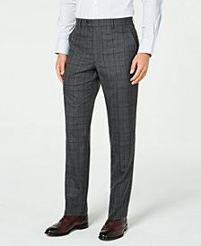 Lauren Ralph Lauren Men's Classic-Fit UltraFlex Stretch Gray/Purple Check Suit Separate Pants