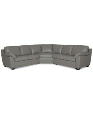 Lothan 3-Pc. Leather Sectional Sofa, Created for Macy's