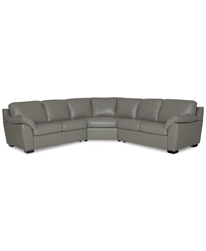Furniture - Lothan 3-Pc. Leather Sectional Sofa