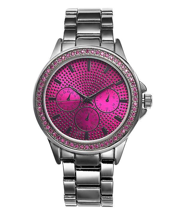 INC International Concepts INC Women's Chronograph Gunmetal-Tone Bracelet Watch 44mm, Created for Macy's