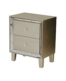 Heather Ann Bon Marche 2-Drawer Mirrored End Table