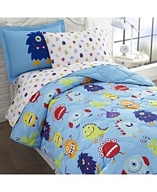 Wildkin's Monsters Sheet Set - Twin