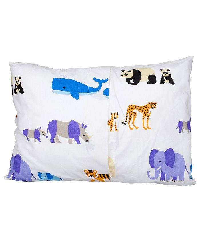 Wildkin - Endangered Animals 13 1/2 x 19 Hypoallergenic Toddler Pillowcase