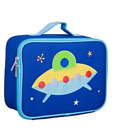 Spaceship Embroidered Lunch Box