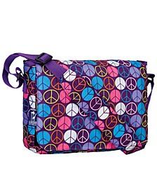 "Peace Signs Purple 13"" X 10"" Messenger Bag"