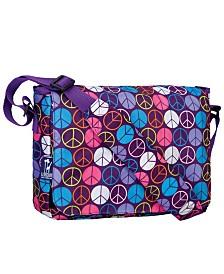 "Wildkin Peace Signs Purple 13"" X 10"" Messenger Bag"