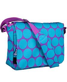 Big Dot Aqua Messenger Bag