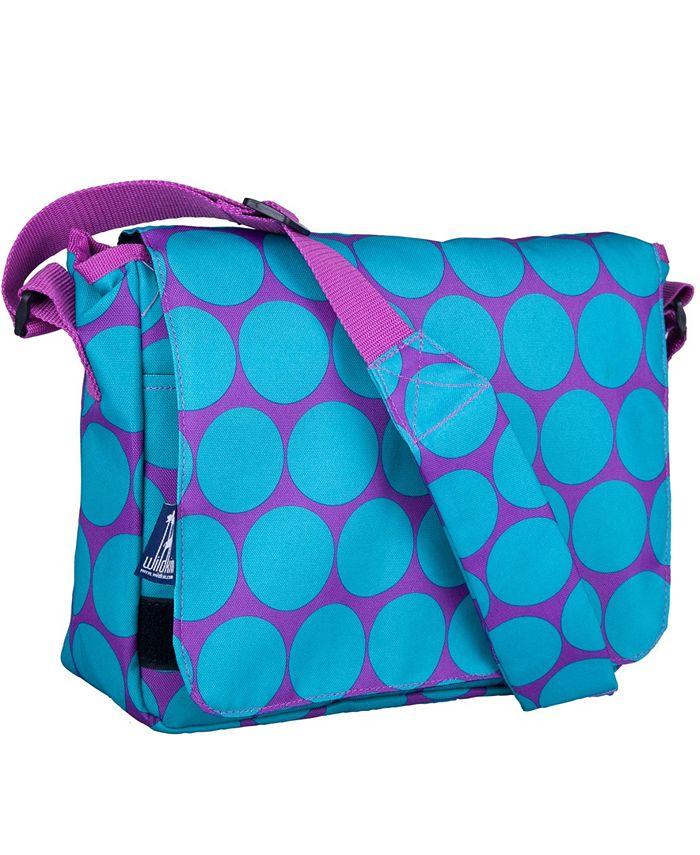 Wildkin - Big Dot Aqua 13 Inch x 10 Inch Messenger Bag
