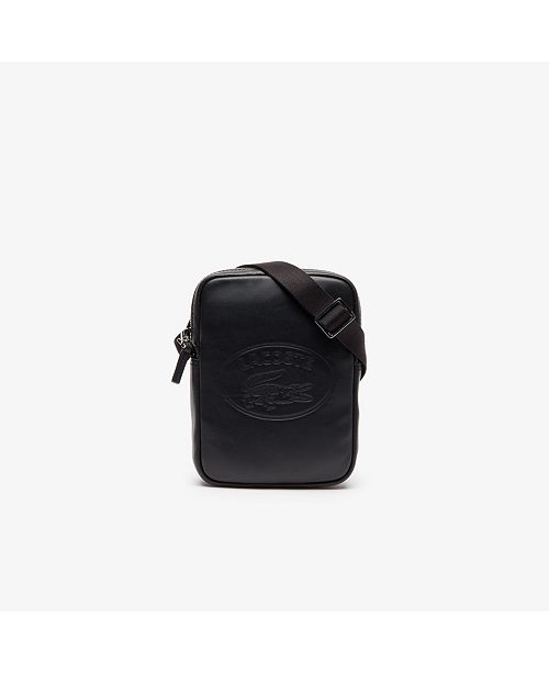 Lacoste L 12 12 Leather Vertical Slim Camera Bag Reviews All Accessories Men Macy S