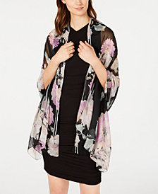 I.N.C. Floral Stripe Wrap, Created for Macy's