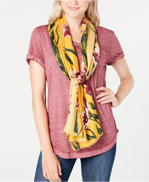 INC International Concepts I.N.C. Brushed Flowers Pashmina, Created for Macy's