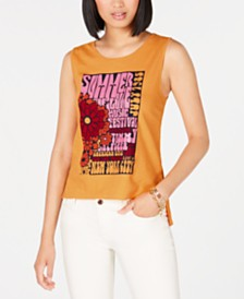 Tommy Hilfiger Cotton Graphic Tank Top, Created for Macy's