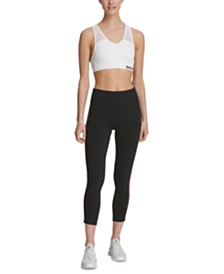 DKNY Sport Logo High-Waist Cropped Leggings