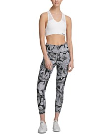 DKNY Sport Zebra-Print High-Waist Cropped Leggings