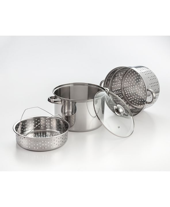 Cook Pro Cookpro 4 Piece Stainless Steel 8 Qt Multi-Cooker