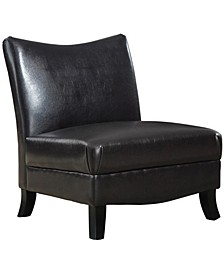 Leather Look Accent Chair