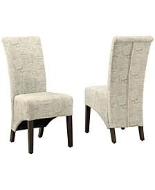 2 Piece Linen Dining Chair Set