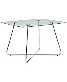 """40"""" Dia Clear Dining Table"""