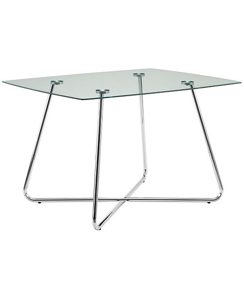 "Monarch Specialties 40"" Dia Clear Dining Table"