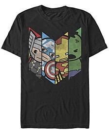 Men's Comic Collection Kawaii Avenger Panels Short Sleeve T-Shirt