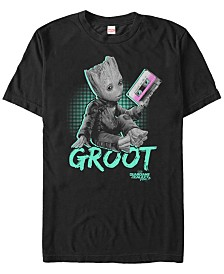 Marvel Men's Guardians of the Galaxy Vol. 2 Curious Neon Baby Groot Short Sleeve T-Shirt