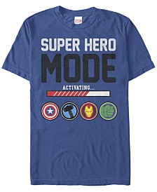 Marvel Men's Comic Collection Hero Mode Activation Short Sleeve T-Shirt