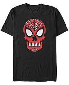 Men's Spider-Man Sugar Skull Big Face Mask Short Sleeve T-Shirt