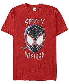 Men's Spider-Man Into The Spiderverse Spidey Web Head Short Sleeve T-Shirt