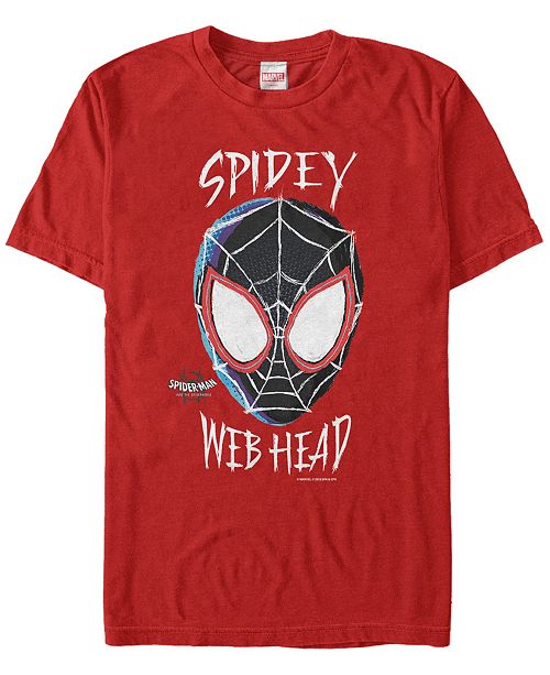 Marvel Men's Spider-Man Into The Spiderverse Spidey Web Head Short Sleeve T-Shirt
