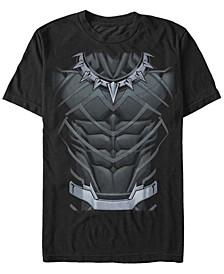 Men's Black Panther Suit Costume Short Sleeve T-Shirt