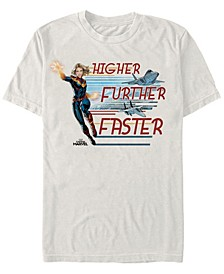 Men's Captain Marvel Jet Streams Short Sleeve T-Shirt