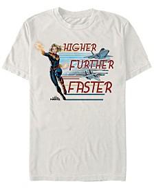 Marvel Men's Captain Marvel Jet Streams Short Sleeve T-Shirt