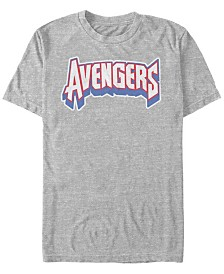 Marvel Men's Comic Collection Avengers Logo Short Sleeve T-Shirt