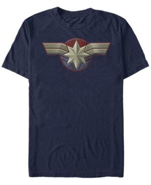 Captain Marvel Men's Uniform Costume Short Sleeve T-Shirt