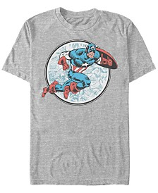 Marvel Men's Comic Collection Retro Captain America Short Sleeve T-Shirt